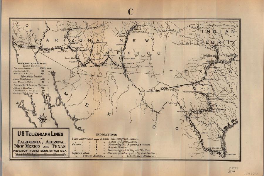 Texas Telegraph Map Kendall County HIstoric Jail Boerne Texas
